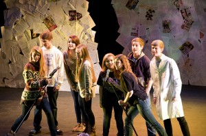 The cast - Annabel, Austin, Hunter, Kendyl, Colleen, Froy and Carter - play eight young people who have one unforgettable Friday in &quot;Teen Brain: The Musical&quot;.