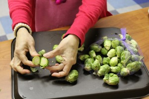 cut Brussels sprouts; image courtesy of DCT